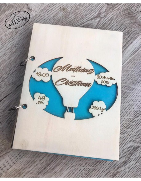 Guest book/caiet cu impresii pentru botez