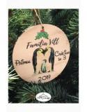 Glob din lemn color Pinguini