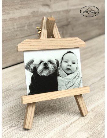Sevalet din lemn personalizat cu fotografia ta