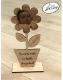 Floare din lemn cu fotografie