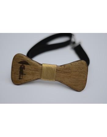 Papion din lemn d