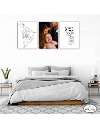 Set tablouri lemn FAMILY 2