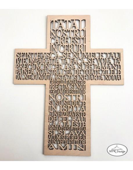 Cruce din lemn cu rugaciune