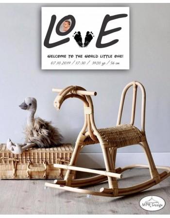 Tablou lemn LOVE BABY