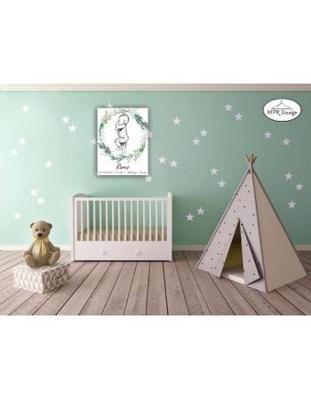 Tablou lemn Baby silhouette