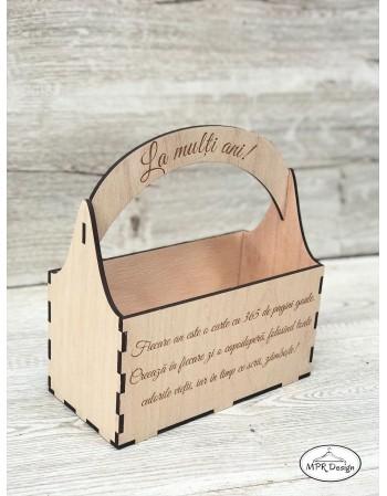 Cosulet din lemn personalizat