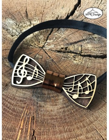 Papion din lemn DESIGN Music