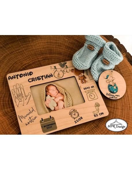 Set cadou nou nascut personalizat