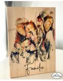 Tablou color lemn Familie