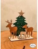 Decoratiune din lemn pentru Craciun cu led
