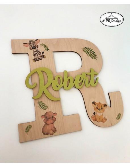 Litera personalizata din lemn