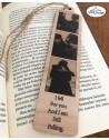Semn de carte din lemn cu fotografii