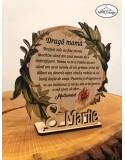 Decoratiune trofeu din lemn MAMA