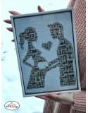 Puzzle personalizat cu fotografii - viitori parinti