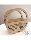 Cosulet din lemn personalizat 8 Martie