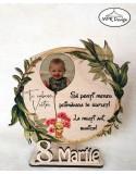 Decoratiune 8 martie din lemn cu fotografie