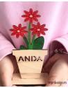 Floare din lemn color personalizata