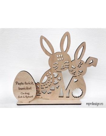 Decoratiune personalizata din lemn pentru Paste