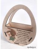 Cosulet pentru oua din lemn personalizat pentru Paste
