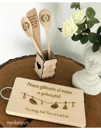 Set accesorii bucatarie personalizate - Nasi