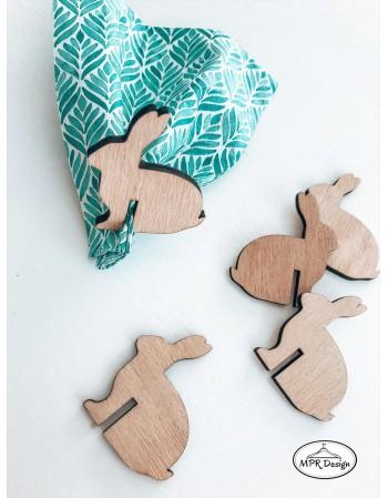 Set accesorii lemn pentru servetele - RENI