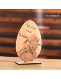 Ou din lemn pentru Paste cu mesaj