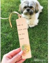 Semn de carte din lemn DOG