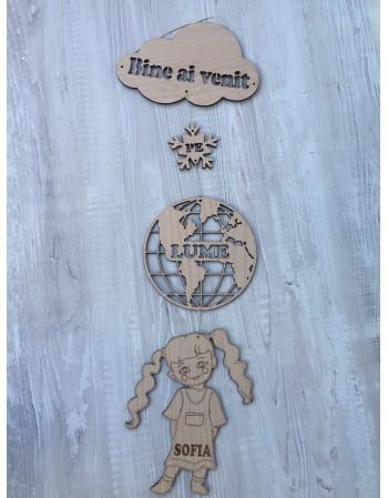 Decoratiune personalizata BINE AI VENIT