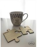 Suport pahare puzzle din lemn